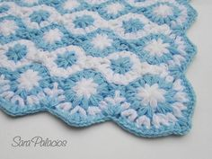 (4) Name: 'Crocheting : Baby Blanket: 'Stars on the sea'