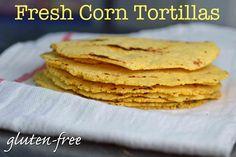 Fresh Gluten-Free Corn Tortillas - sem ovo