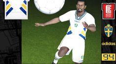 7158b63f6 1994 SWEDEN Away. Uniformes FutebolCamisas Futebol