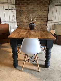 23 best painted farmhouse table images lunch room dining room rh pinterest com