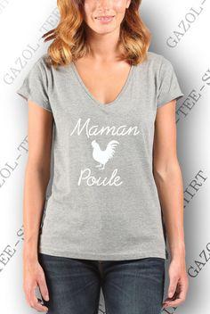"""T-shirt."""" Maman poule"""". Fêtes des mamans! : T-Shirt, debardeurs par gazol-tee-shirt"""