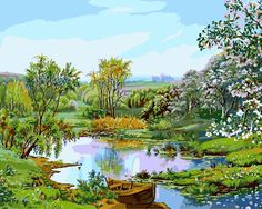 "2015 New Paint By Number Kit DIY Arcylic Painting On Canvas 16""x20"" Landscape Green World"
