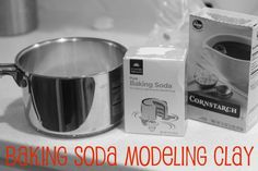 Baking Soda Modeling Clay: It's light, oh-so-soft, and has a texture similar to playdough. And it even dries without flaking or crumbling! Here's what you'll need: 2 cups baking soda 1 ¼ cup water 1 cup cornstarch paint Clear Nail Polish, Clear Nails, Clay Crafts, Crafts For Kids, Arts And Crafts, Preschool Crafts, Modeling Clay Recipe, Modelling Clay, Models