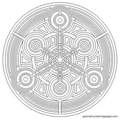 Ripple mandala now at geometrycoloringpages.com