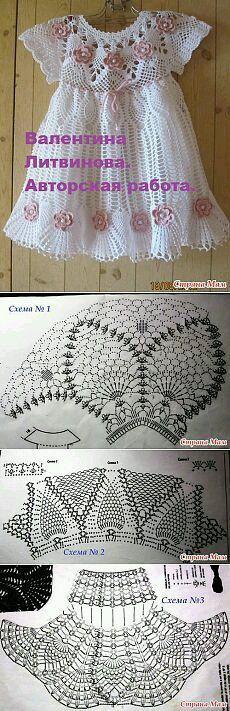 New Baby Girl Crochet Dress Website Ideas Crochet Dress Girl, Baby Girl Crochet, Crochet Baby Clothes, Crochet For Boys, Crochet Dresses, Beau Crochet, Knit Crochet, Crochet Hats, Crochet Designs