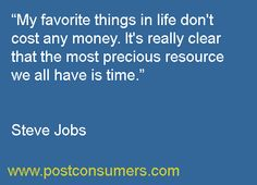 Steve Jobs on his lesson on money, time and what's really important.