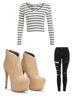 """Casual #2"" by sharisrush ❤ liked on Polyvore featuring Topshop and Miss Selfridge"