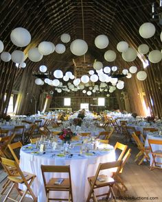 An old dairy barn got a do-over as a benefit auction ballroom.   #BenefitAuctionDecor