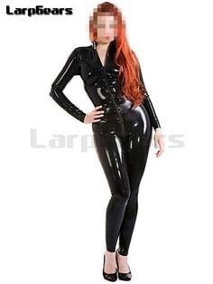 Full Cover Latex Catsuit with Condoms Wet Look Zentai Rubber Jumpsuits Unisex