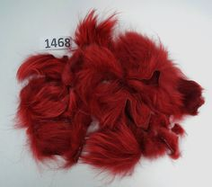 Raccoon Fur Scraps, Real Fur Pieces, Real Fur Pieces, Fur Offcuts for Craft and Sewing Projects, Genuine Fur Cuts, Fur Trims, Red Fur