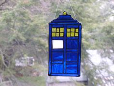 Tardis Dr Who Stained Glass Seriously Cool 4 x 8