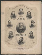 "Enlarge  This sheet music for ""Stonewall Jackson's March"" was written and composed by B. Richards, and published by D.P. Faulds of Louisville, Kentucky in 1866. The cover of the sheet music is adorned with portraits of the Confederate generals, and is ""Respectfully Dedicated to the Confederate Generals, Our Generals."" Robert E. Lee's portrait is in the center, and is ringed, clockwise from top with portraits of: Johnston, Hill, Hardee, Bragg, Jackson, Price, Beauregard, and Longstreet."