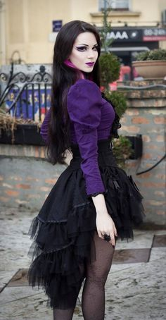 Love the combination of black and purple