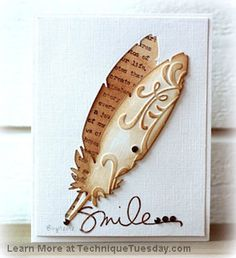 Smile Feather Card - stunning!
