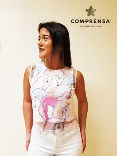 Lovely t-shirt cropped made in Com-Prensa for SS18  Top feito na Com-Prensa para a Primavera - Verão 2018  #comprensa #beautiful #photo #fashion #design #color #model