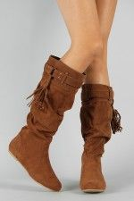 Tassel Slouchy Knee High Boot <3 Website with reasonably priced boots