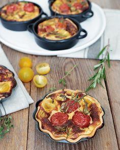 mediterrane Tomaten Tartelettes Tarte Tomatentarte