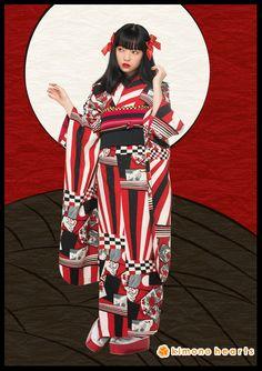 Yukata Kimono, Kimono Outfit, Kimono Fabric, Kimono Fashion, Japanese Uniform, Japanese Outfits, Japanese Kimono, Harajuku Fashion, Japan Fashion