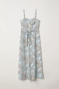 Bandeau jumpsuit - Light blue/Patterned - Ladies | H&M 4