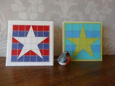 Name: 'Paper Crafts : Star Shine Paper Quilt, Coasters, Paper Crafts, Quilts, Stars, Frame, Creative, Pattern, Home Decor