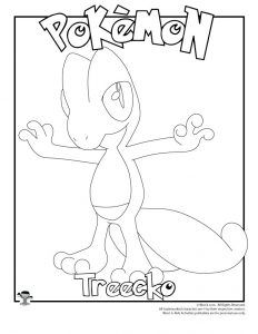 Treecko Coloring Page Woo Jr Kids Activities Pokemon Coloring Pages Coloring Pages Pokemon Coloring