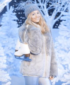 The stunning launches Yorkshire's Winter Wonderland at Play Shop, Celebs, Celebrities, Winter Wonderland, Georgia, Fur Coat, Interview, Product Launch, Chic