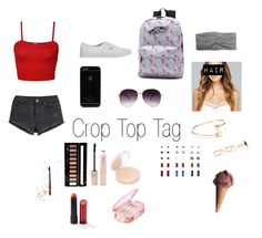 """""""Crop Top Tag-Check Description!"""" by rla099274 ❤ liked on Polyvore featuring WearAll, H&M, Vans, Forever 21 and Wet Seal"""