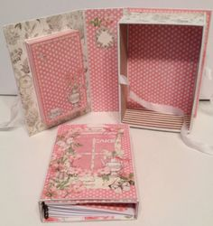 annes papercreations: G45 Botanical Tea shadow book box with a recipe album inside