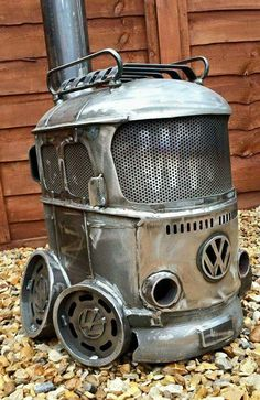 What a cool...ok HOT...woodburning stove! More