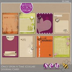 Once Upon A Time /Collab/ Journal Cards