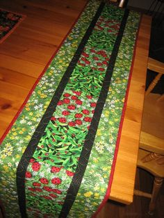 Quilted Table Runner Ladybugs in the Grass by TahoeQuilts on Etsy, $62 ...