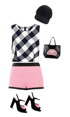 """""""Untitled #1306"""" by sylviabunny ❤ liked on Polyvore featuring Oscar de la Renta, Moschino and RED Valentino"""