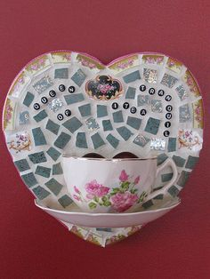 Queen of Tranquil-i-tea by teacup mosaics, via Flickr
