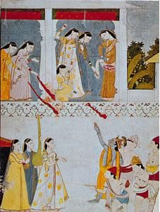 Hindu spring festival celebrated throughout North India on the full-moon day of Phalguna (February–March). Participants throw coloured water and powders on one another, and, on. Pichwai Paintings, Indian Paintings, Hindu Festivals, Indian Festivals, Nepal, Indian Traditional Paintings, Rajasthani Painting, Krishna Art, Indian Artist