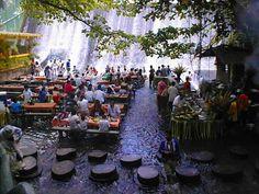 I want to eat here!! ---->  Waterfall Restaurant: Villa Escudero Labasin Waterfall: Philippines