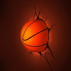 3D Wall Art - 3D Basketball Light