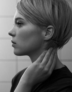 Cute short style- Tapered into the nape