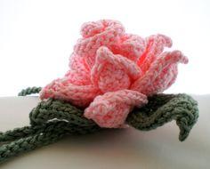 PDF Knit Flower Pattern Rose Knit Flower by OhmayDIY on Etsy