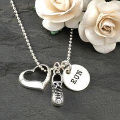 Love to Run - Marathon necklace - Sterling Silver