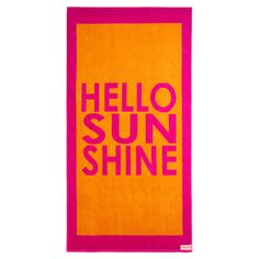 Enjoy sun-soaked days by the water or poolside lounging with this oversized cotton beach towel, featuring a 2-tone typographic motif.