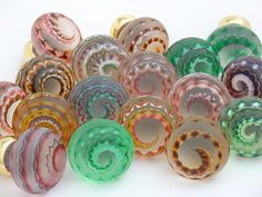 Artisan glass kitchen knobs - eclectic - knobs - other metros - Merlin Glass