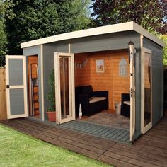 The 12 x 8 Sheriff Hallsworth Summerhouse comes with a built in side shed, so you get a handy storage shed as well as a fantastic wooden summerhouse. Built in Side Shed can be assembled on either the left-hand side or right-hand side Tongue and Groove construction throughout 10 Year Anti-Rot Guarantee
