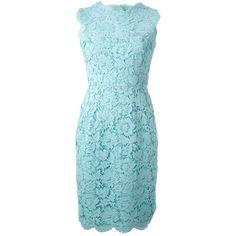 VALENTINO floral macram dress (48,990 MXN) ❤ liked on Polyvore featuring dresses, short dresses, valentino, платья, crochet dress, blue floral dress, blue crochet dress, floral print dress and short floral dresses