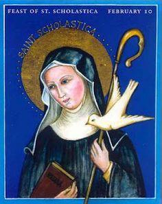 Saint Scholastica. February 10.