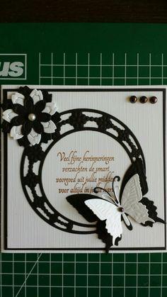 Condoleance kaart 3d Cards, Pop Up Cards, Your Cards, Cricut Cards, Marianne Design, Condolences, Butterfly Cards, Card Tutorials, Sympathy Cards