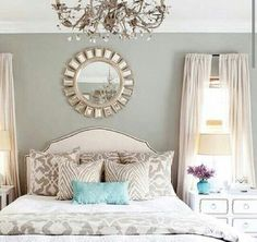 "I love these colors in the living room! it looks so ""happy"" Living Room Living Room Room decor Love the colors home design Dream Bedroom, Home Bedroom, Bedroom Decor, Bedroom Ideas, Pretty Bedroom, Bedroom Colors, Design Bedroom, Shabby Bedroom, Warm Bedroom"