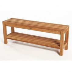 Stylish Teak Shower Bench for Bathroom Decor: Modern Minimalis ...