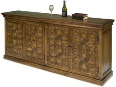 Sarreid Living Room Nailing Sideboard 30118 - Lenoir Empire Furniture - Johnson City, TN Walnut Sideboard, Sideboard Cabinet, Media Cabinet, Empire Furniture, Cafe Tables, Paris Cafe, Framed Maps, Wood Mirror, Side Chairs
