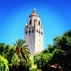 Iconic Stanford landmark. For $2 (free for students), you can ride the elevator to the top for a view of ALL of campus and region