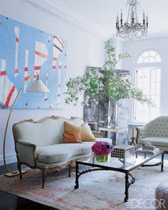 Manhattan Apartment of Candace Bushnell - Home of Candace Bushnell - ELLE DECOR#slide-2#slide-3